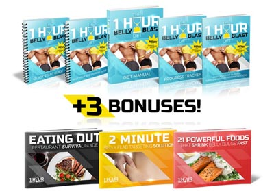 1 Hour Belly Blast Diet package with bonuses