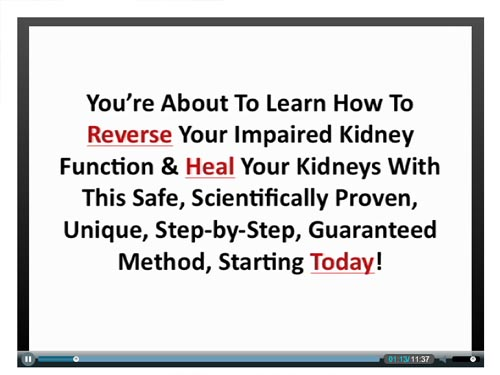 kidney disease solution scam