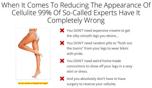 my cellulite solution scam
