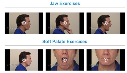 sleep apnea exercise videos